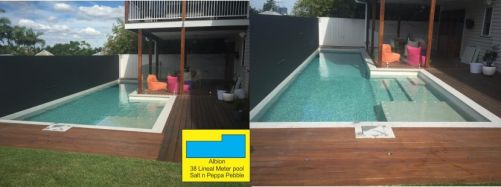 Albion Family Home Wood Deck Pool Instillation