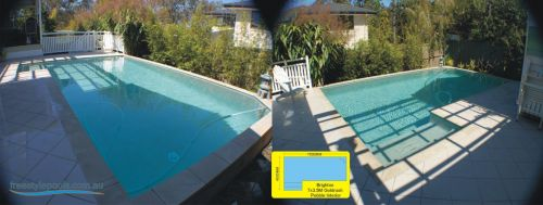Brighton Goldrush Finish Outdoor Pool With Pebble Interior