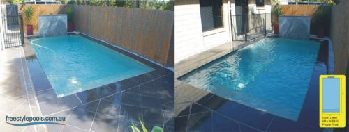 North Lakes Black & White Pebble Finish Pool