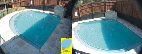 Warner Teardrop Design Outdoor Pool & Waterfall