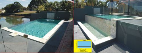Scarborough Raised Pool With Waterfall Wall Feature