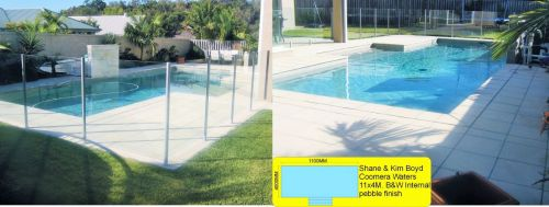 Coomera Waters T Shaped Pool With Glass Wall Barrier