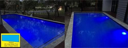 Wilston Outdoor Lighted Pool Build