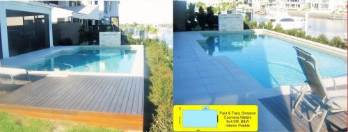 Coomera Waters Dockside Family Pool Build With Pebble Interior
