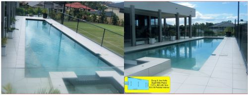 8 Mile Plains Luxury Pool Design With Raised Spa Section