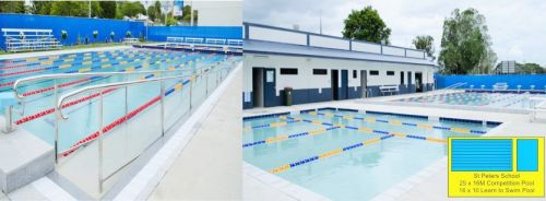 St Peters School Aquatic Centre Competition Pool & Attached 16x10 Meter Beginner Pool