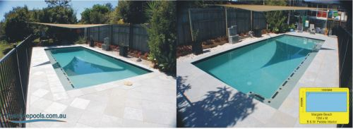 Margate Beach Fenced Pool Build With Shaded Covering